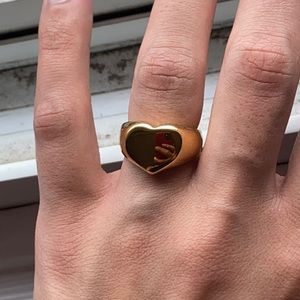 💍Gold Plated Chunky Heart Ring💍